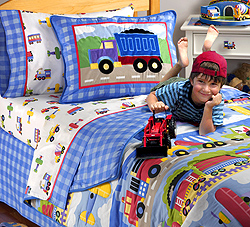 Olive Kids Trains Planes Trucks Bedding Collection